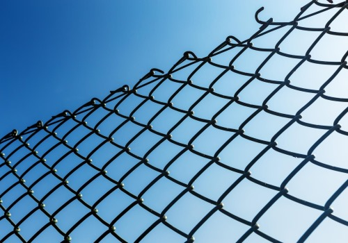 Photo of a chain link fence in Jersey City, NJ